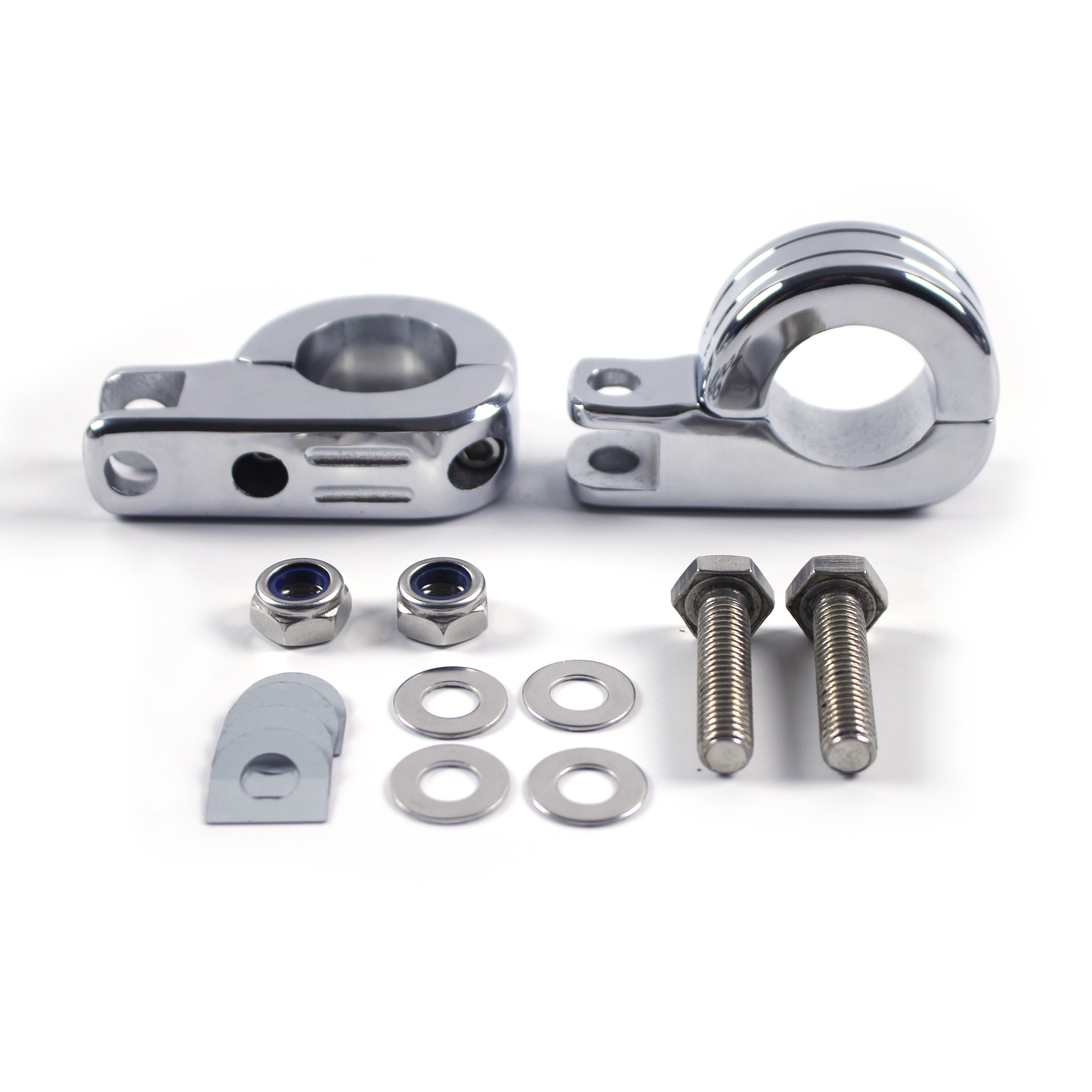 "Free Shipping <strong>Price</strong> Billet Steel <strong>Motorcycle</strong> Foot Pegs Footrest Clamp For 1 1/4""(32mm) Engine Guard Bars"