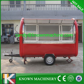 Mobile food truck/ice cream cart/hot dog mobile food cart with 2.8M