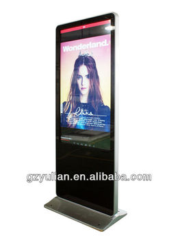 "55""Lobby hotel LED touch display /floor standing digital signage"
