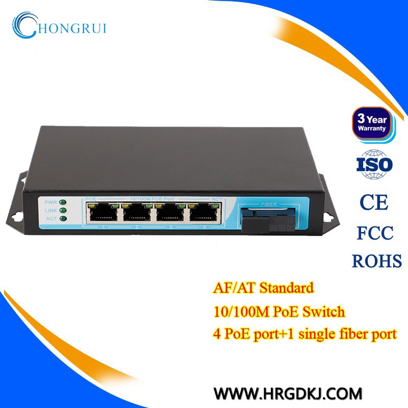 Fast ethernet PoE Switch 4 port poe switch for ip camera