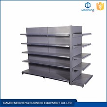 Large capacity removeable steel gondola advertising display supermarket shelf
