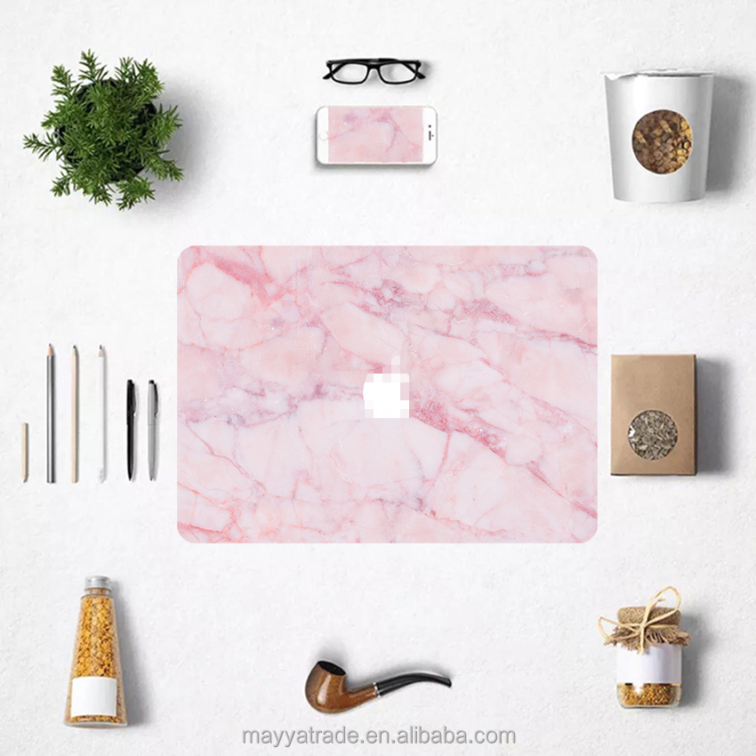 Factory Price Laptop Accessories Natural Pink Marble Texture Skin Decal Sticker for Macbook Cover Case
