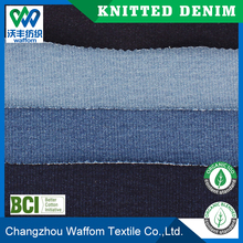 Polyester / Cotton / Spandex terry knit denim fabric wholesale