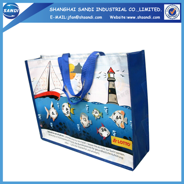 Promotional foldable plastic pp woven shopping bag