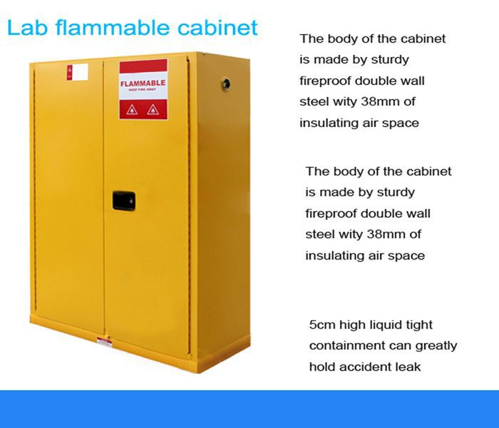 Factory Sale Fireproof Flammable Liquid Safety Storage Cabinet For Industry  And Lab