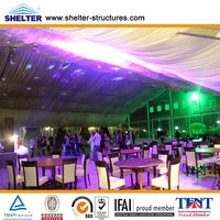 crystal transparent wedding marquee with wedding tent decoration 20m x 50m for sale