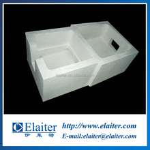 High alumina aluminium filter box for continuous casting refractory material