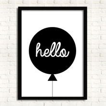 Simple Acrylic balloon pattern Hanging Wall Picture with Frame for Office and Home