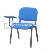 Cheap fabric writing chair with tablet arm with writing board for school