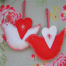 Valentine's Day Gift Sewing Birds, Hanging Gift Felt Birds with Scandinavian Style Also For Mother's Day Love Theme Decoration