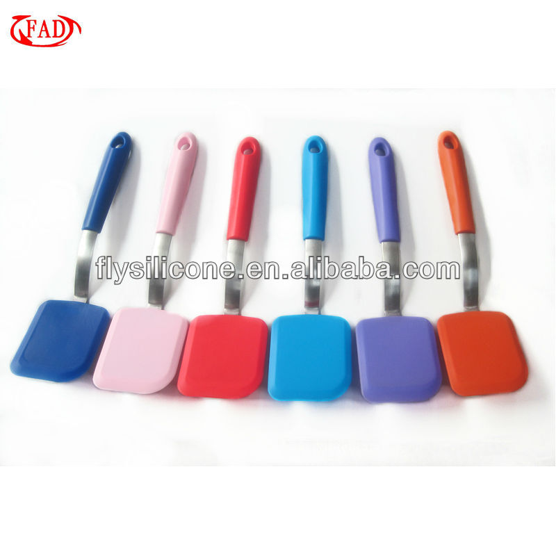 Silicone Egg/Pizza/Pancake/Kitchen Utensils Turner with Stainless Steel Inner Handle