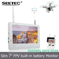 NO blue screen anti jam battery powered 7 inch FPV 5.8GHz 32CH auto scan wireless monitor for quadcopter rc kit