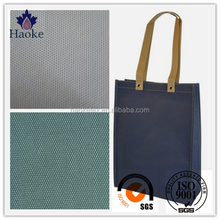 cheap waterproof taffeta pvc coated polyester fabric for shopping bag