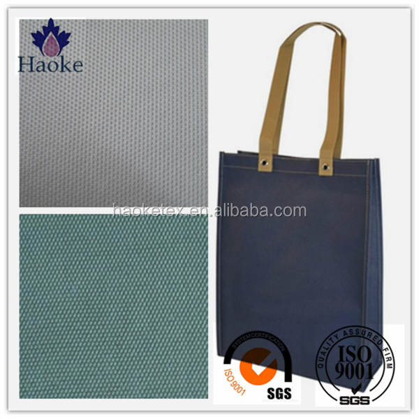 great waterproof taffeta pvc coated polyester fabric for shopping bag