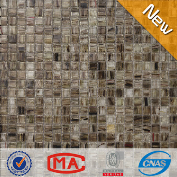 LJO JY-<strong>G</strong>-<strong>08</strong> Professional Foshan Manufacturer Decorative Light Grey Crystal Glass Mosaic Tile Cheap Outdoor Tiles