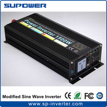 CE RoHS DC 12V 24V 36V 48V to AC 220V 120V Modified Sine Wave Power Inverter 1500W for off Grid Solar Power System