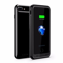iFans portable ultra slim 3100mAh external backup UV Battery Power Case for iPhone 6/6s/7 with protect bumper ,OEM provided