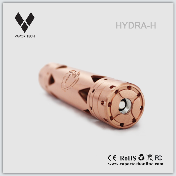 2014 new mechanical mod Hydra H red copper mechanical mod black turtle ship