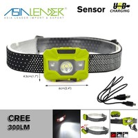 for Hiking, Running, 5 Brightness Level Camping Headlight Q5+2Red LED 300LM Hunting LED Head Torch Light