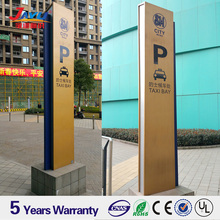 Free standing metal sign board outdoor big size direction sign