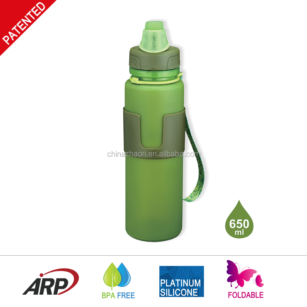 Wholesale Silicone Folding Water Bottle