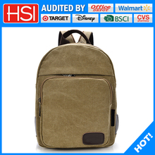 2017 new style wholesale top quality canvas school book bag