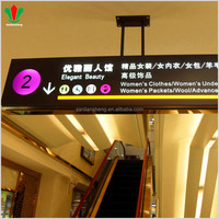 Acrylic led light airport signage for goods to declare