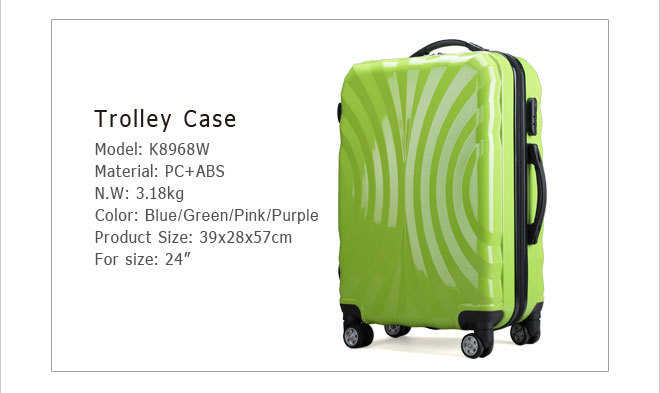 "Sky travel luggage,PP luggage case,20"" lugage bag travel trolley luggage"