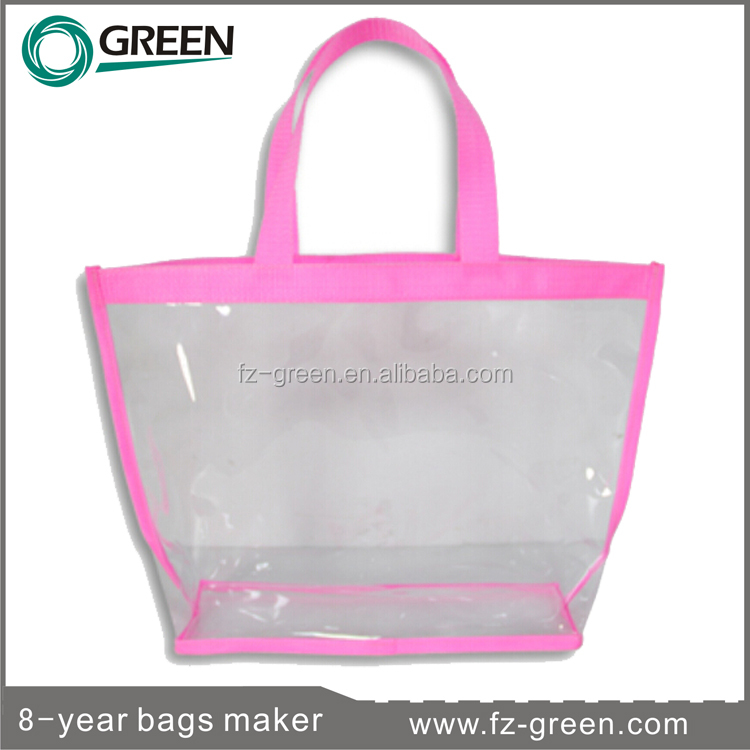 look like bling clear plastic cosmetic bag