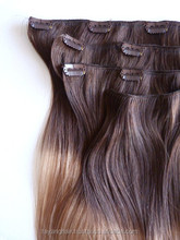 2014 clip in human hair extension weft Romantic amorous woman want Good quality lengthen thick wigs
