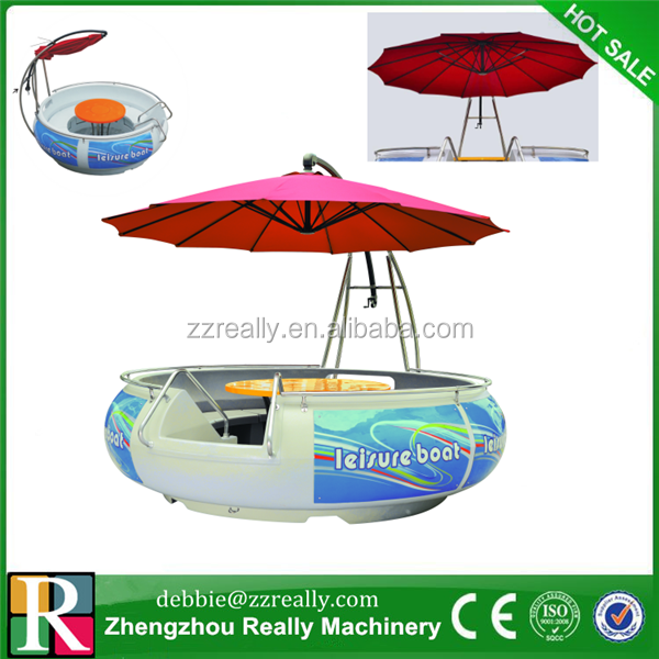 alibaba china new products aqua park round bbq donut pedal boat/ water pedal