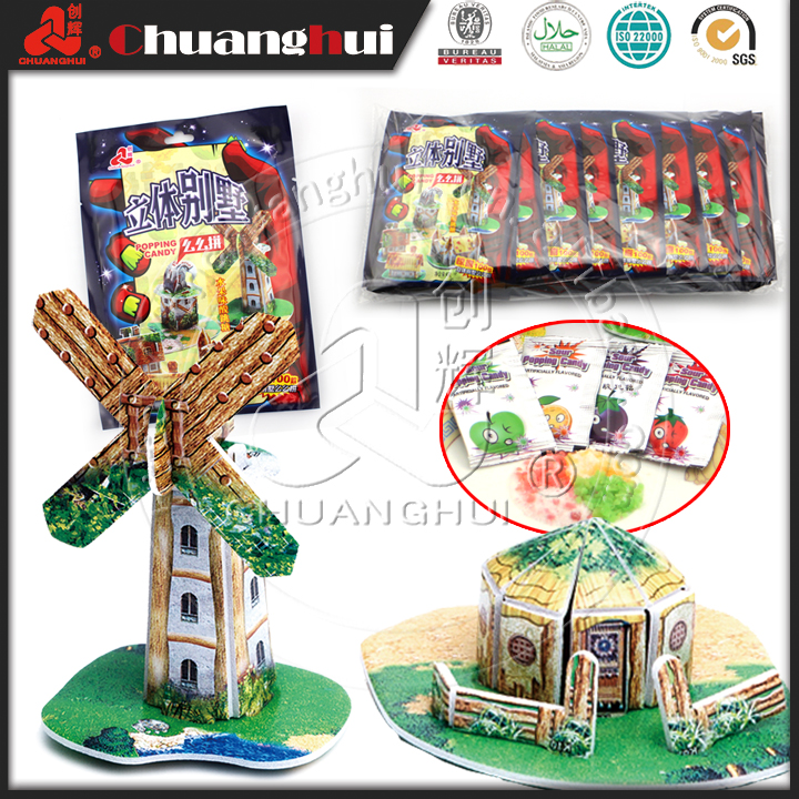 Plants Zombies Puzzle with Popping Cheap Candy Toy