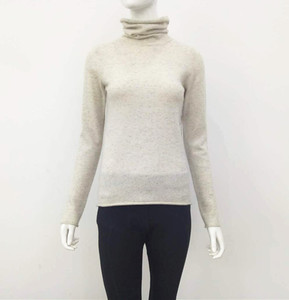 nep yarn cashmere sweater in turtleneck