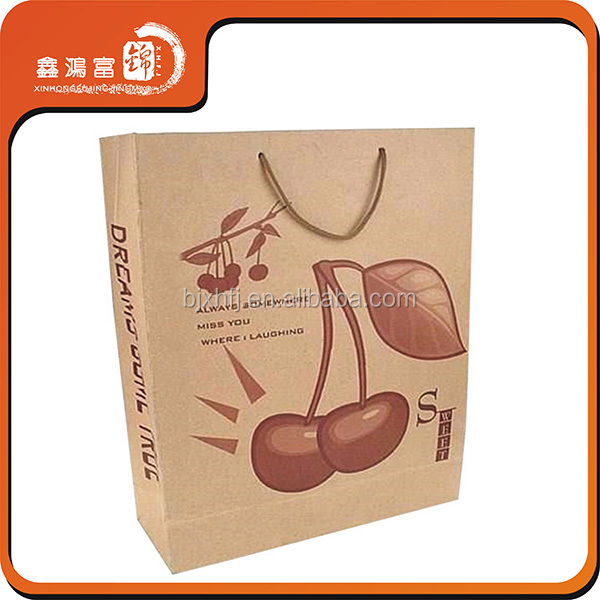 custom printed garment shoping wrapping paper bag with handles