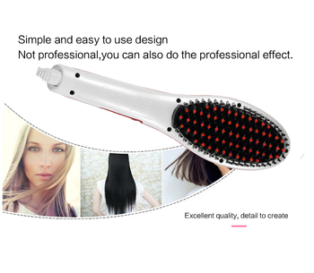Wholesale low prices custom logo gold automatic electric professional electric fast hair straightener brush ceramic