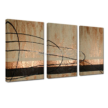 Abstract Oil Painting Hand-Painted/3 Pannel Handmade Oil Painting/Decorative Canvas Art for Wall
