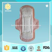 100% cotton lady sanitary towel for period use
