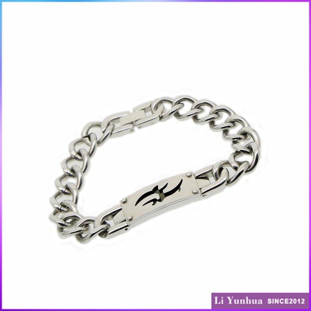 Classic design stainless steel fashion cuff power bracelet 2016 for man