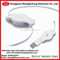 two way retractable cable usb v2.0 to stripped open for mouse