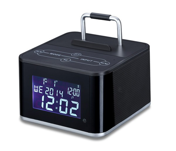 Aj-86 Hotel Alarm Clock Bluetooth Radio Speaker With Lcd Screen ...