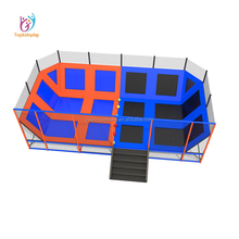 Sky zone 40ft Safe galvanized steel Bungee Trampoline Park with roof