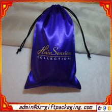 Custom Wholesale Satin Sheer Hair Packaging Bags
