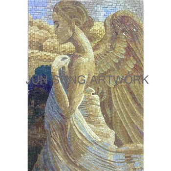 MRL-AN01 Handmade Angel Mural Glass Mosaic Pattern Wall Decoration Design Bathroom Tiles Mosaic