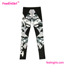 Fast delivery letter print sport wear woman fitness pants
