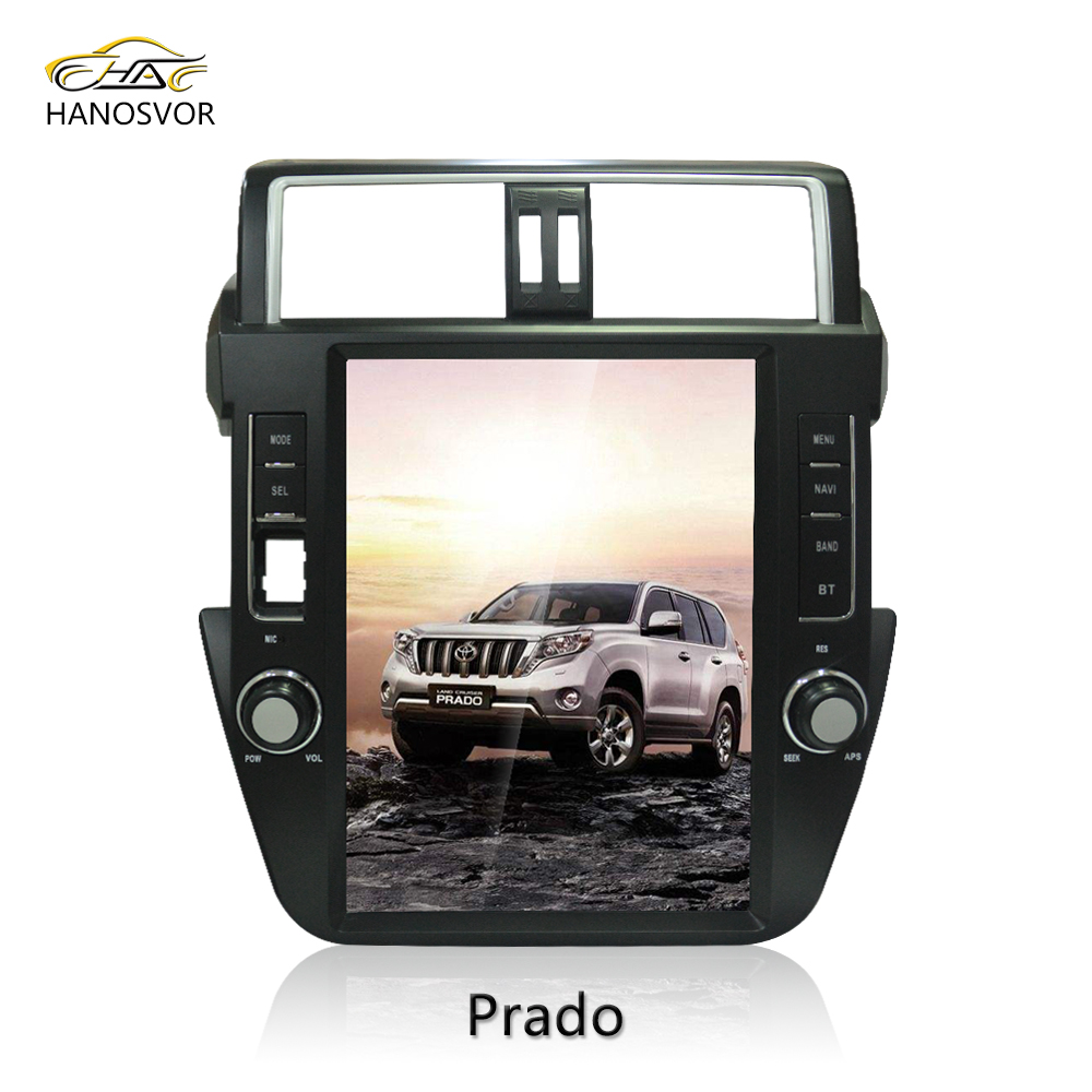 12.1 inch vertical touch screen for new Prado 2012-2014 Car DVD Player with Android 6.0 support Rear Camera GPS BT wifi 32G