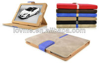 smart suede 360 rotating leather case cover for apple ipad air
