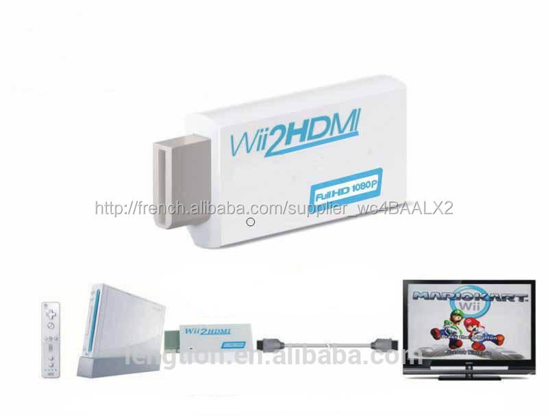 1080p 720p hd wii convertisseur hdmi upscaling adaptateur de sortie autres quipements de home. Black Bedroom Furniture Sets. Home Design Ideas