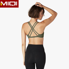 OEM factory yoga top cross straps sports bra custom made yoga bra ladies