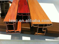 colorful (solid wood) upvc window and door profile supplier