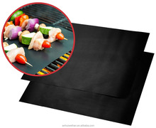 High quality fireproof retardant charcoal teflon barbecue grill mat, bbq grill mat